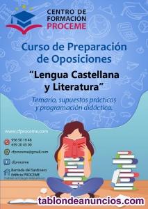 Oposiciones lengua castellana y literatura 2.020