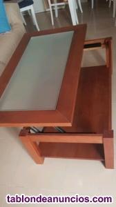 Mesa salón de doble altura