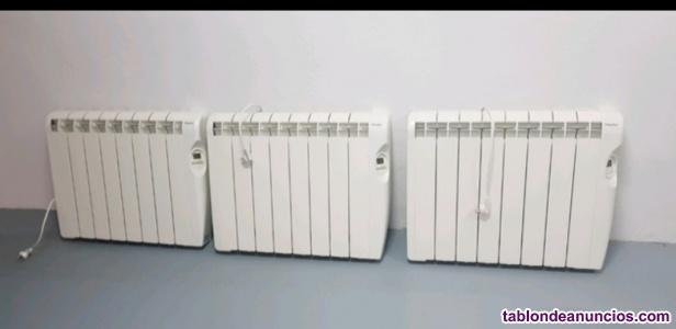 Radiador de calefacción azul