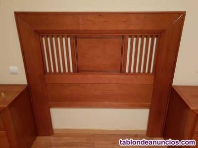 Habitación de matrimonio de madera maciza