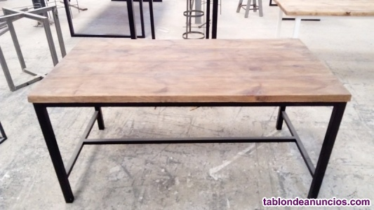 Mesa industrial para salon-comedor