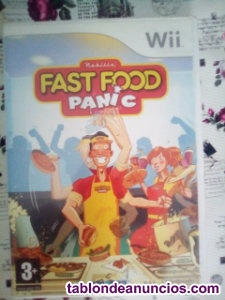 Juego fast food panic para wii