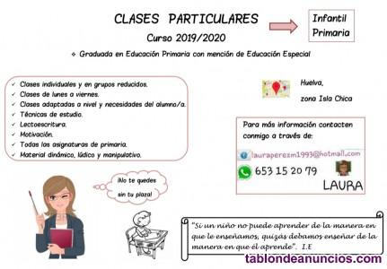 MAESTRA DE EDUCACION PRIMARIA IMPARTE CLASES PARTICULARES A NIVEL DE PRIMARIA.