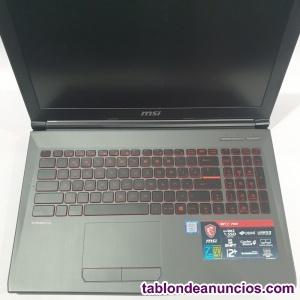 Portatil MSI GV62 7RE i7-7700HQ 8GB Ram 1050ti