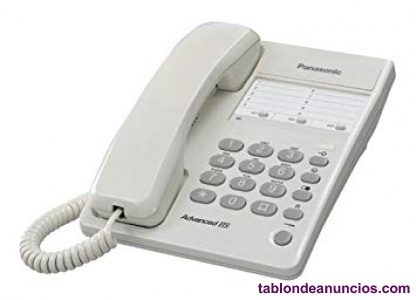 Teléfonos analógicos panasonic kx-ts100exw