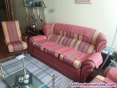 Conjunto de sofas y mecedora