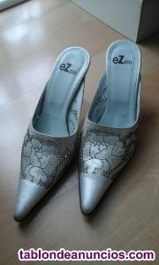 Zapatos de sra. En piel