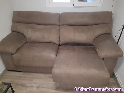 Sofá 3 plazas asiento deslizante