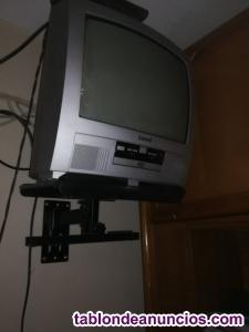 Tv+dvd+tdt+soporte pared todo 35 euros