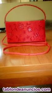 Bolso de mano color rojo