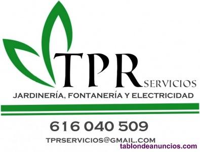 Servicios de jardinería ,fontanería y electricidad .
