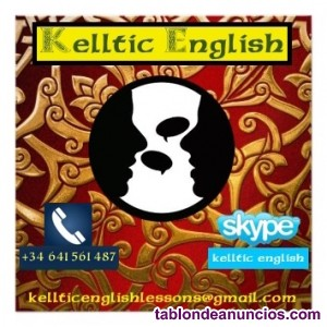 Inglés con un profesor nativo de irlanda.