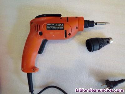 ATORNILLADOR SPIT 216 NUEVO + adaptador para tornillos + 8 cajas de Tornillos