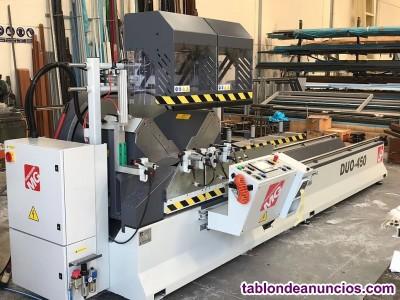 Duo-450 tronzadora de doble cabezal para corte de aluminio / pvc