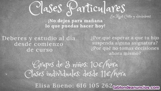 CLASES PARTICULARES DESDE 3 PRIMARIA A 2O ESO  EN MIJAS COSTA
