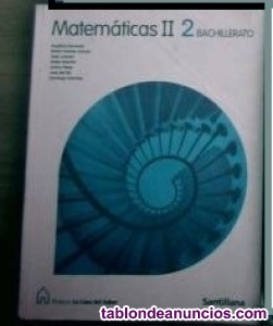 Libro matemáticas 2ª bachillerato