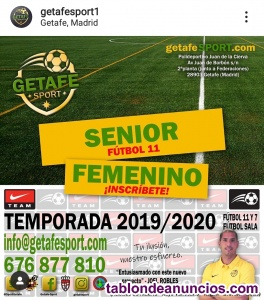 Se necesitas chicas para equipo de fútbol 11