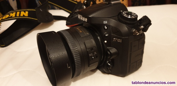 Nikon d-7100 mas objetivo 35 mm 1.8 f