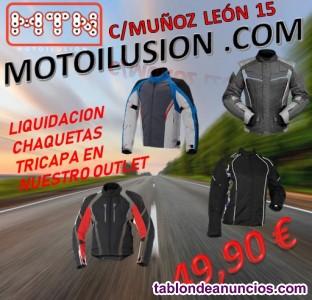 Oferta chaquetas y pantalones para motoristas