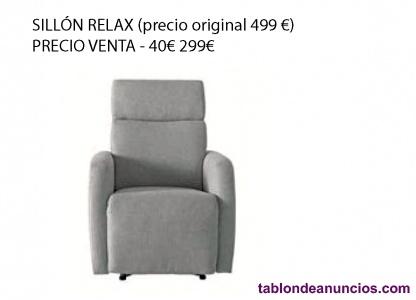 Sillón relax El Corte Inglés -40% NUEVO