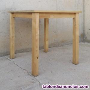 Mesa madera haya 74x74cm