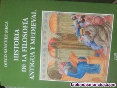 Vendo libro de historia de la filosofía antigua y medieval, diego sánchez meca