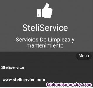 Servicios de limpieza y mantenimiento steliservice