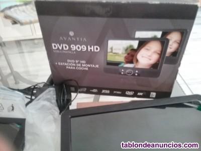 Dvd con 2 pantallas para coche