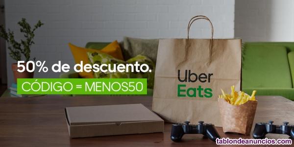 Código 50% de descuento en la app Uber Eats