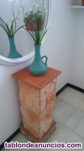 Pedestal - mesa auxiliar - entrada recibidor