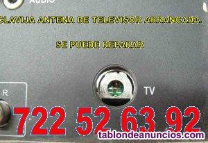 Reparación conector antena televisor