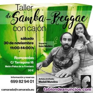 Taller de samba-reggae con cajón