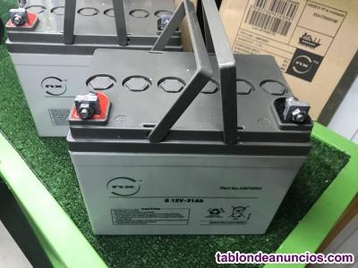 Baterias gel 31 amperios para silla de ruedas