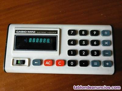 Calculadora casio-mini cm-605 funcionando años 70 electronic calculator casio mi