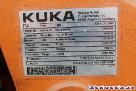 Robot industrial kuka kr 210 6 ejes con garantía