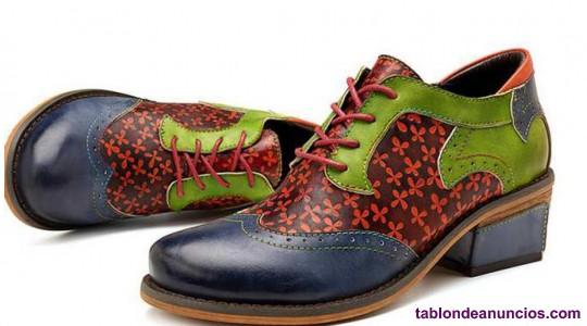 Vendo zapatos nuevos talla 40 piel coloreada a mano