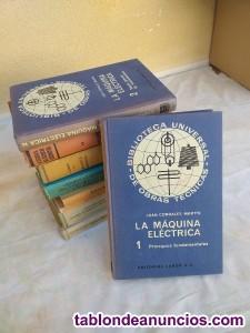 Lote de 9 Libros de Electricidad,Mecánica y Geometria Descriptiva.