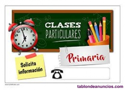Clases particulares - Educación Primaria