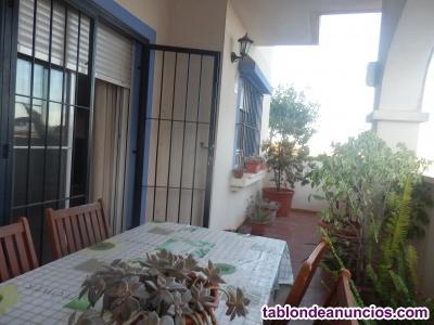 Apartamento bajo con dos terrazas y garaje