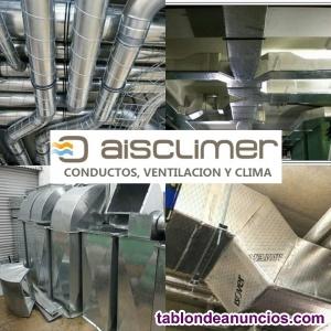 Montadores de conductos en fibra y chapa para ventilación y clima