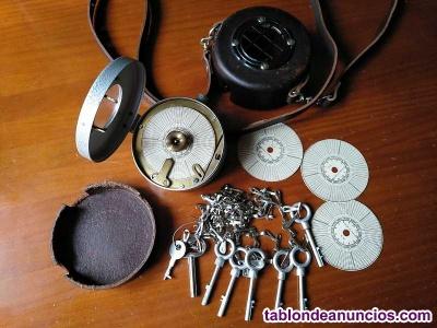 Reloj de guarda, vigilante o sereno, completo watchman´s clock