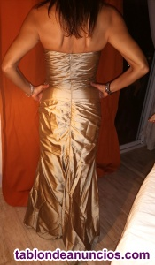 Vestido largo de seda salvaje champagne