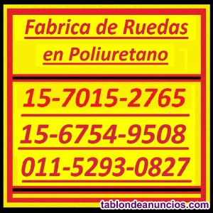 Ruedas poliuretano revestimiento 011-5293-0827 / 011-4848-0674