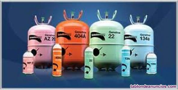 Venta de gas refrigerante al mayor y detal! 134a y r22 carro, nevera y aire