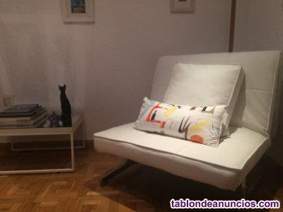 Sofa cama 1 plaza blanco