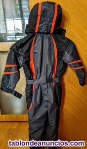 Mono esquí CMP - Talla 92 (2-4 años) - Negro y naranja
