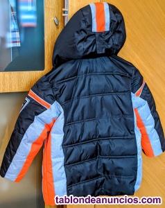 Niños Chaqueta Esquí CMP - 5/6 años - Negra Naranja y Gris