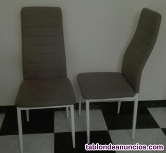 Sillón moderno de dos plazas y dos sillas