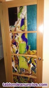 Puertas con vidrieras