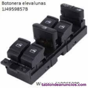 BOTONERA ELEVALUNAS 1j4959857b AUDI SKODA X4 BOT NUEVAS